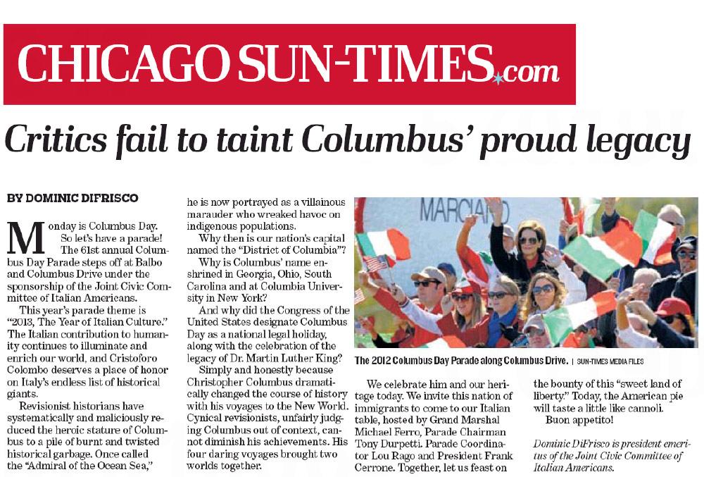 Chicago Columbus Day Parade 2013