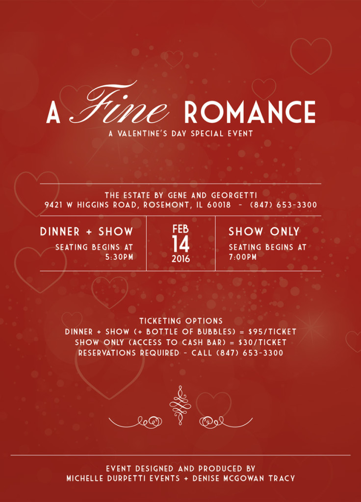 a fine romance, a valentine's day special event | dinner + cabaret, Ideas