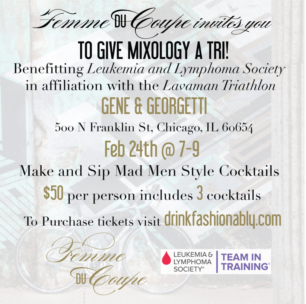 Mixology Event At Gene Georgetti Chicago Presented By Femme Du