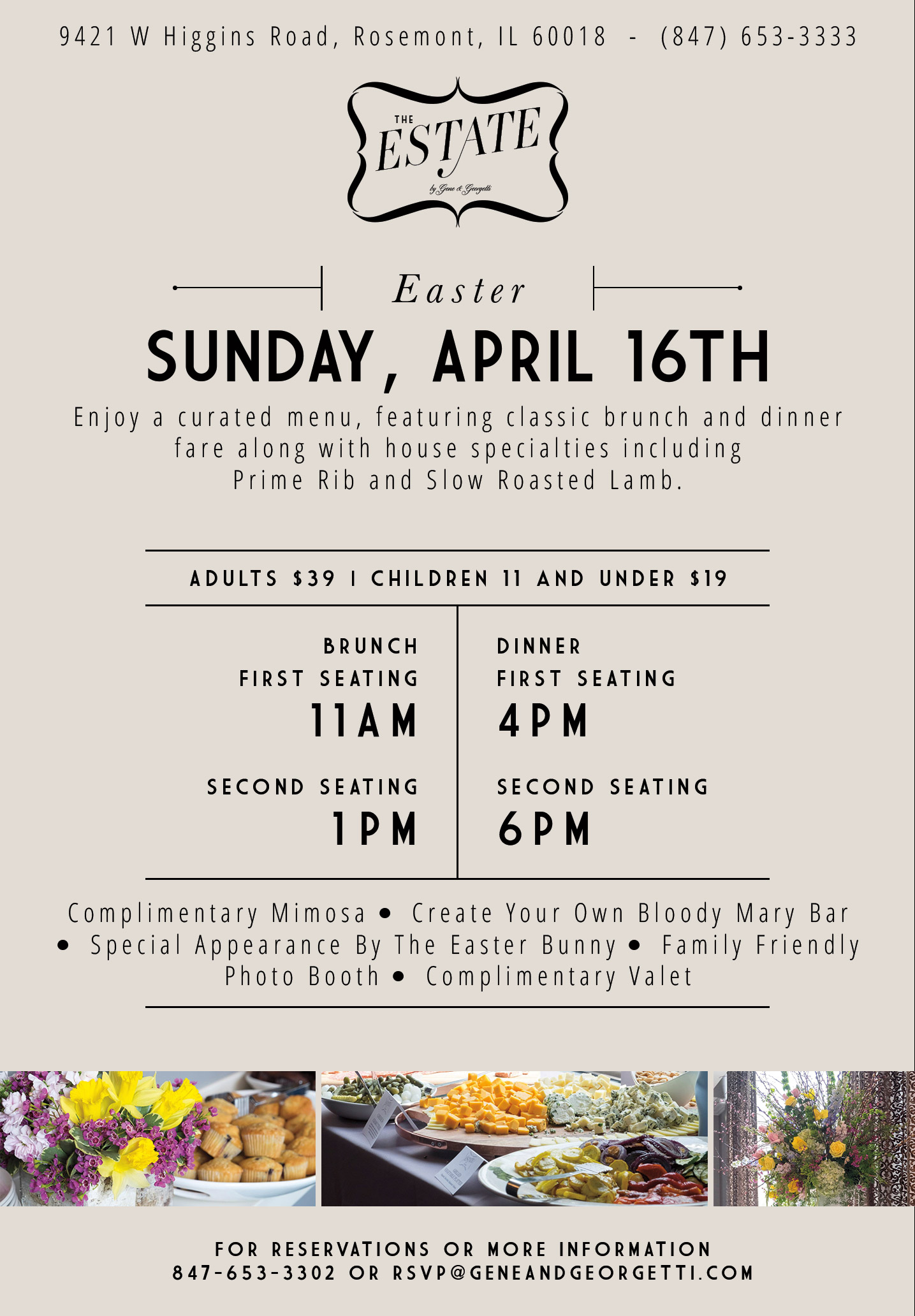 Join Us in Rosemont for Easter Brunch and Dinner Gene And Georgetti