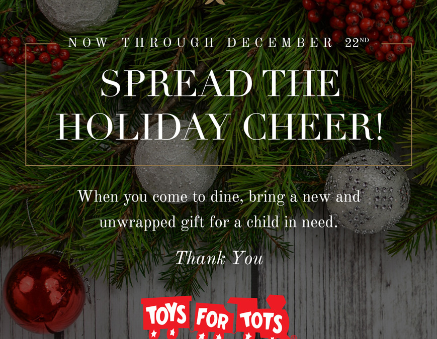 Toy Drive At Gene & Georgetti – Toys For Tots