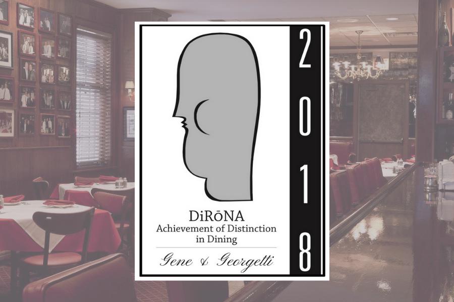 Gene & Georgetti Receives 2018 DiRoNa Distinction