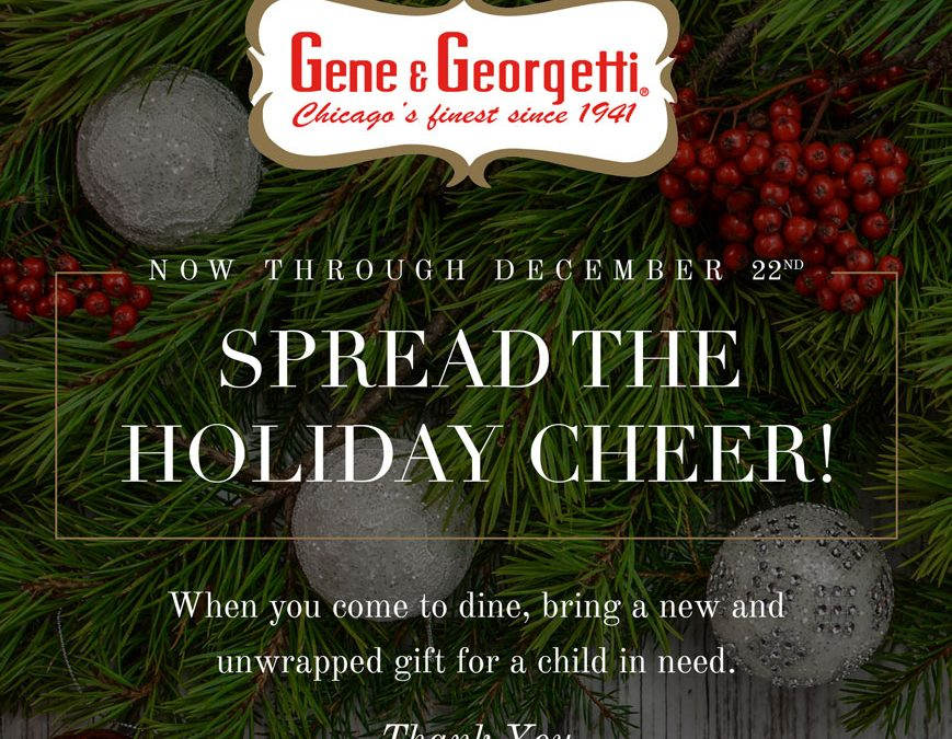 Toy Drive 2020 – Toys For Tots at Gene & Georgetti Rosemont