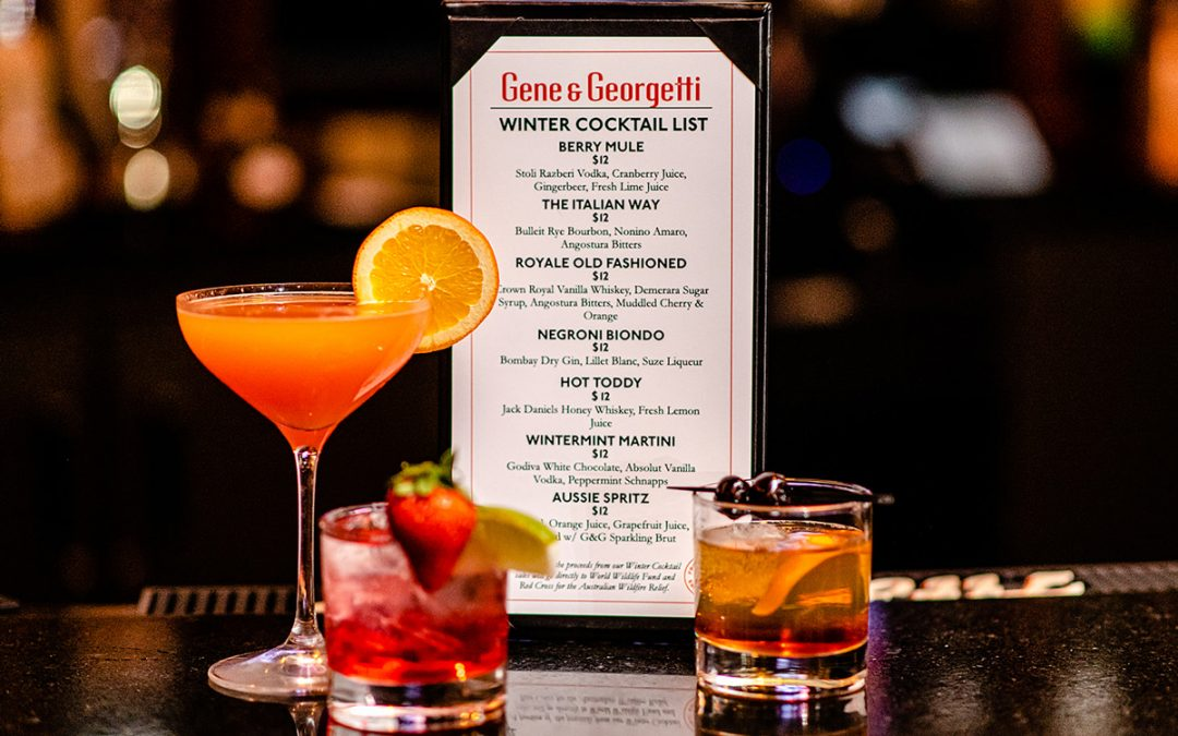 Winter Cocktails To Support Australian Wildfire Relief