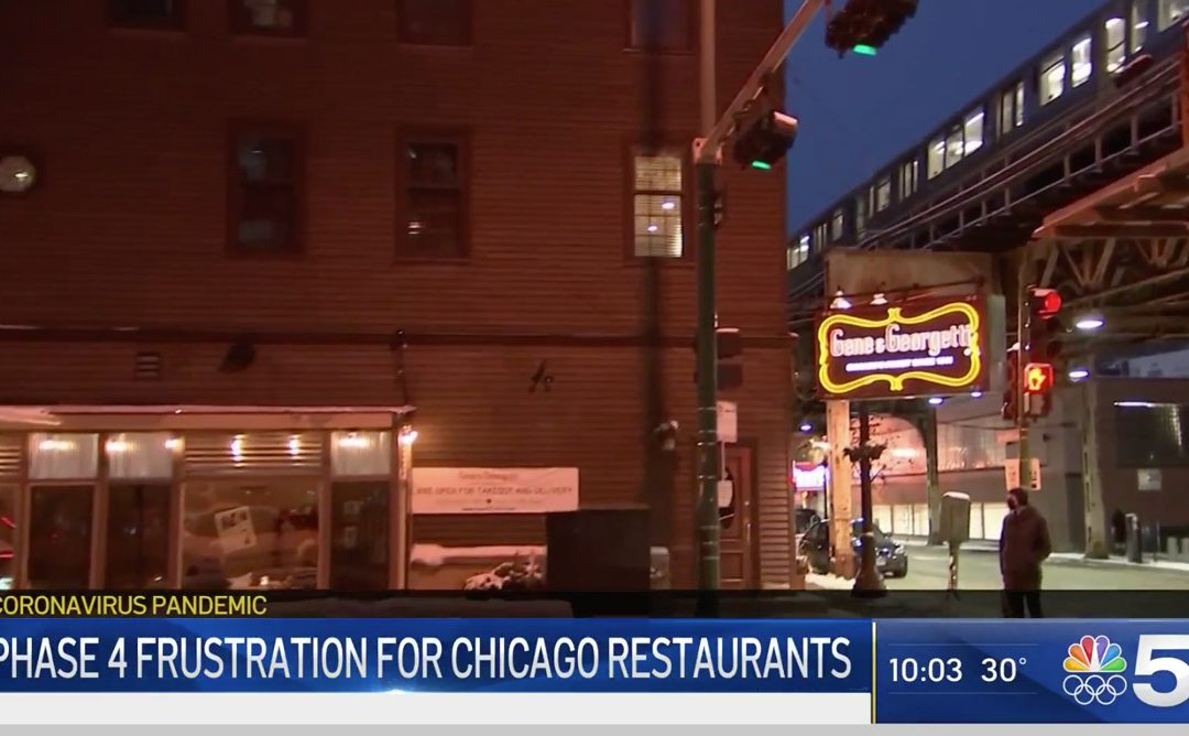 NBC Chicago: Chicago Won't Increase Indoor Dining Capacity When State Eases COVID Restrictions