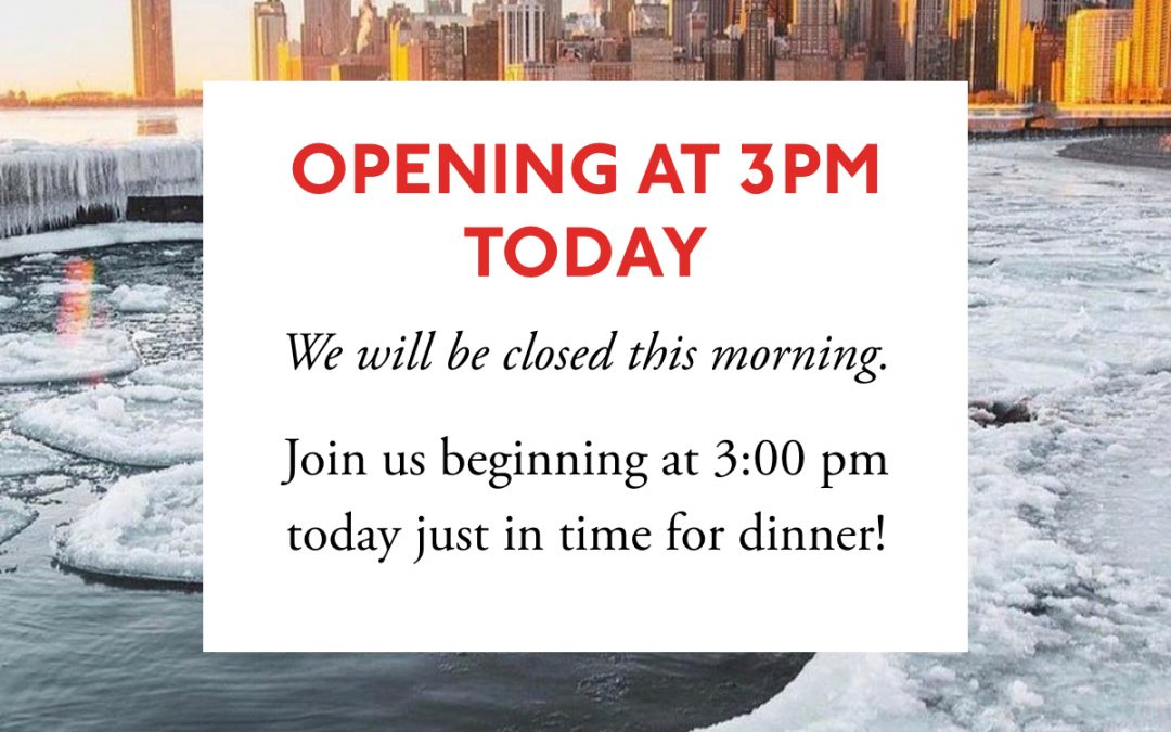 Snow Day, Opening at 3pm Today
