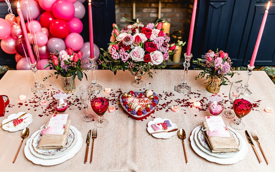 Gene & Georgetti's Private Dining Space Features A Valentine's Day Inspired Shoot
