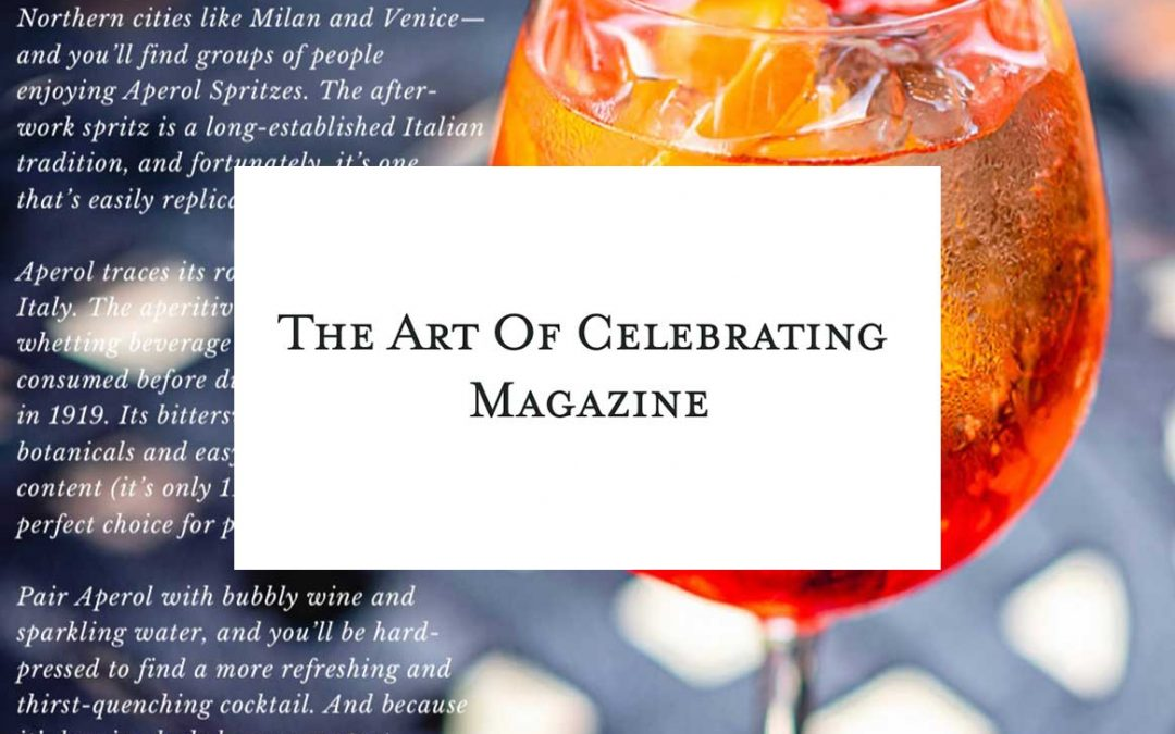 The Art of Celebrating Magazine Features G&G Cocktails